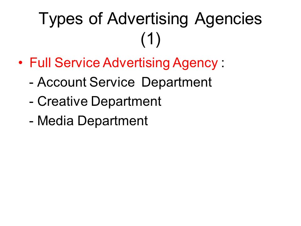 Types of Advertising Agencies (1)