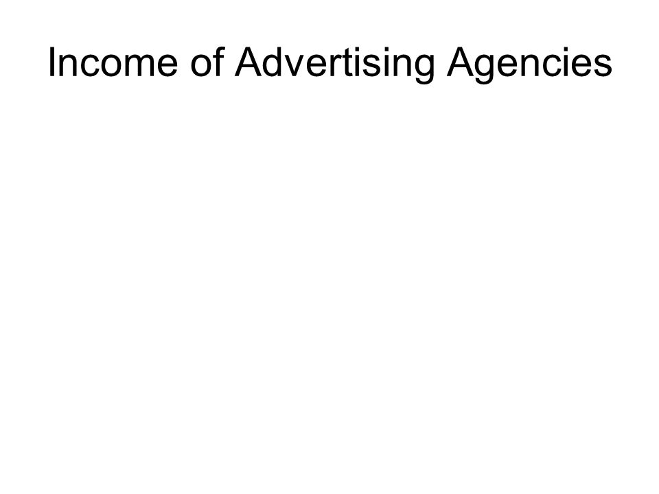 Income of Advertising Agencies