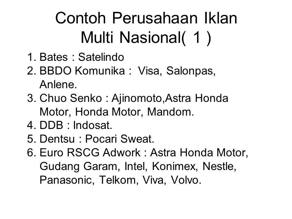 Contoh Perusahaan Iklan Multi Nasional( 1 )