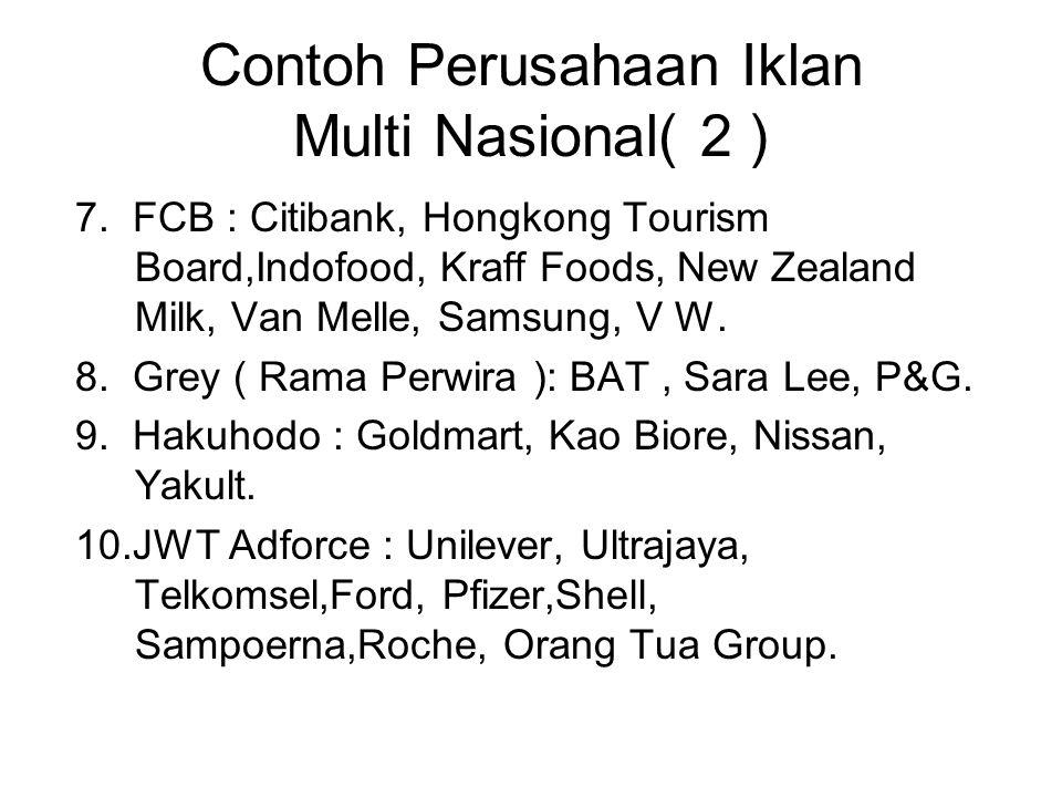 Contoh Perusahaan Iklan Multi Nasional( 2 )