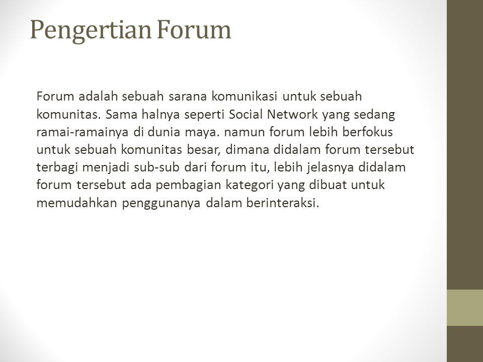 Pengertian Forum