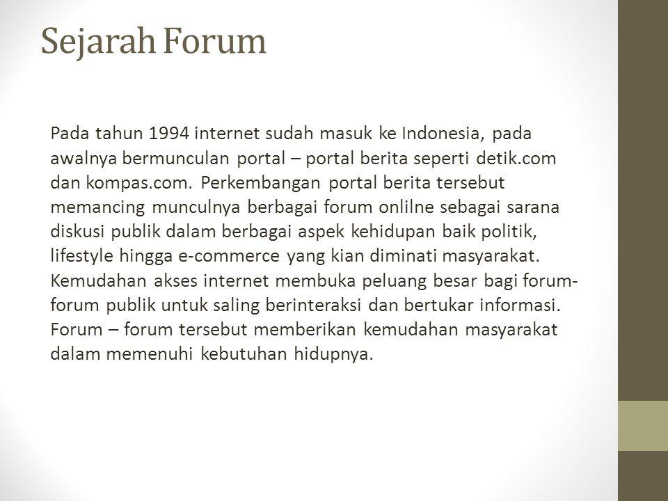 Sejarah Forum
