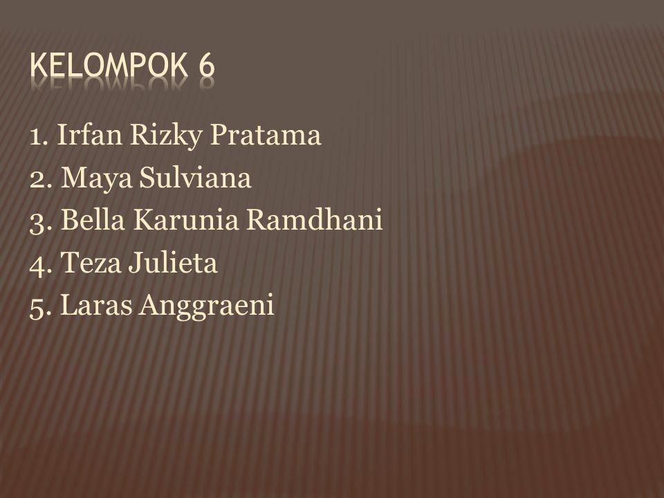 Kelompok 6 1. Irfan Rizky Pratama 2. Maya Sulviana