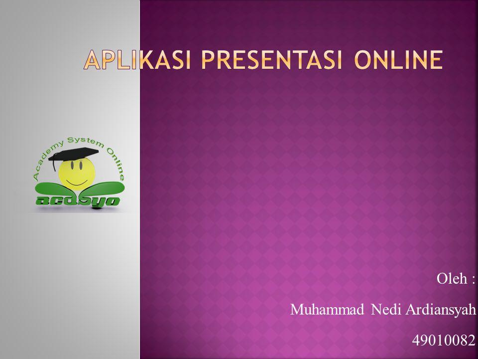 Aplikasi presentasi online