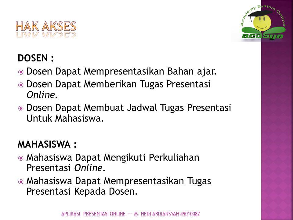 APLIKASI presentasi online --- M. nedi ardiansyah 49010082