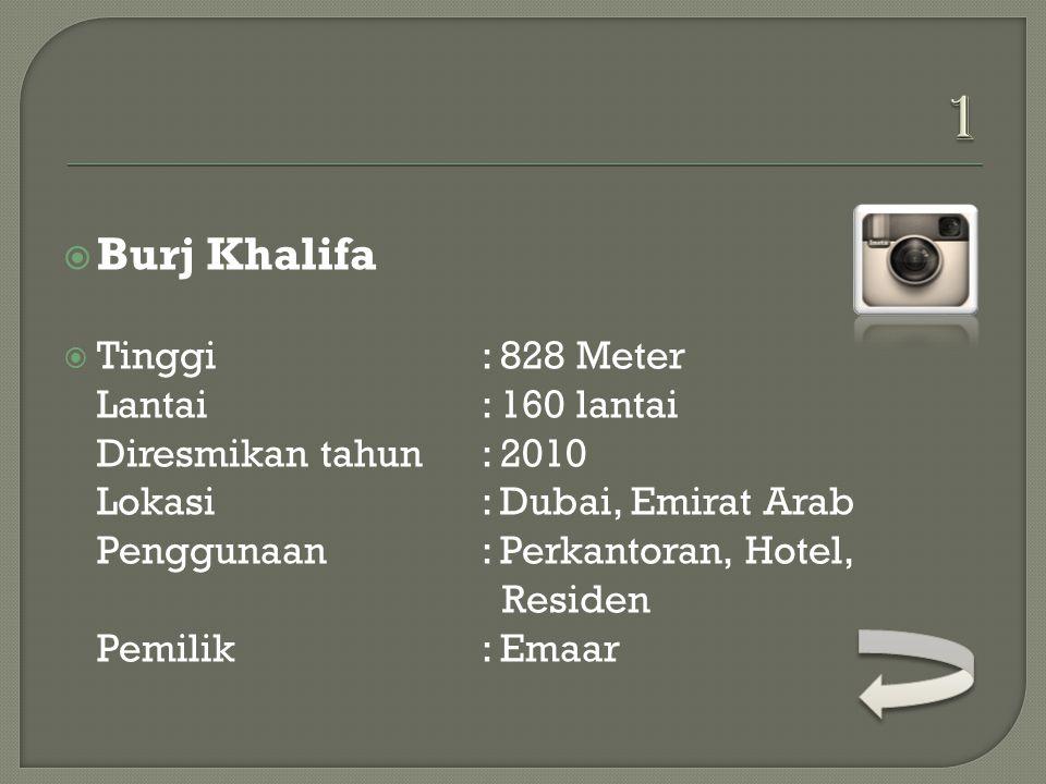 1 Burj Khalifa.