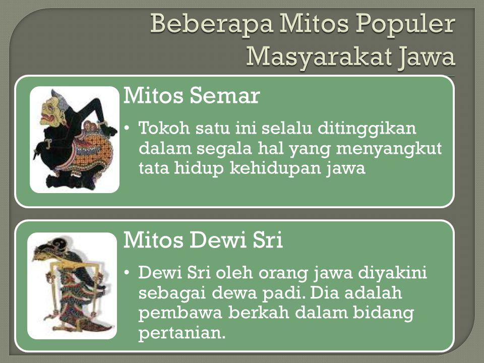 Beberapa Mitos Populer Masyarakat Jawa