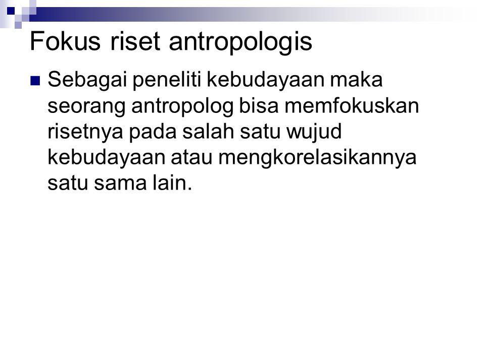 Fokus riset antropologis