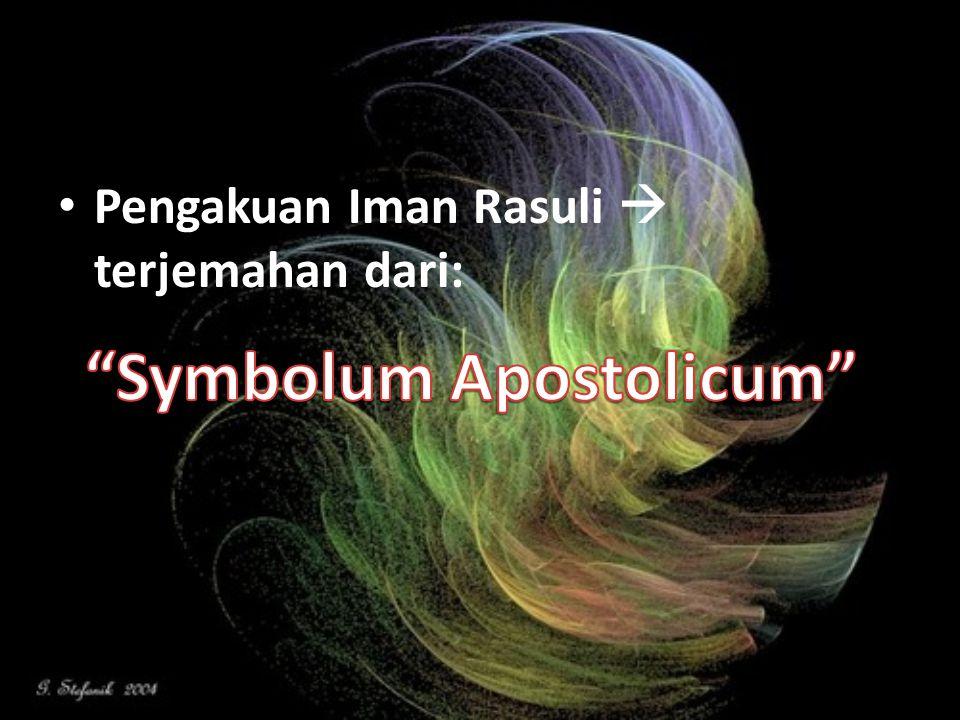 Symbolum Apostolicum