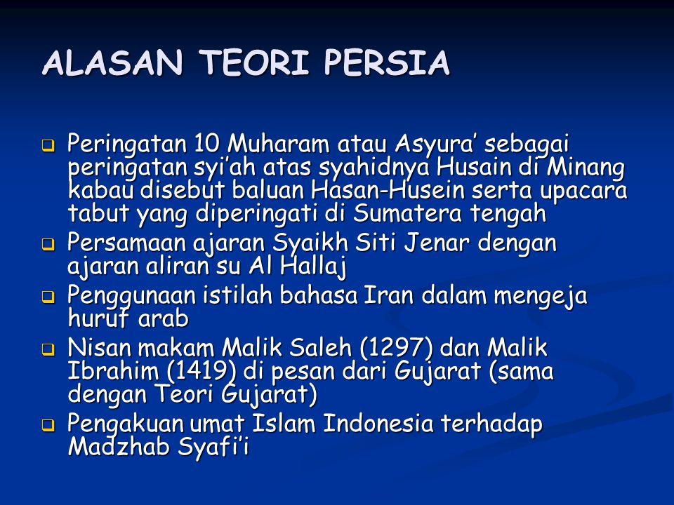 ALASAN TEORI PERSIA