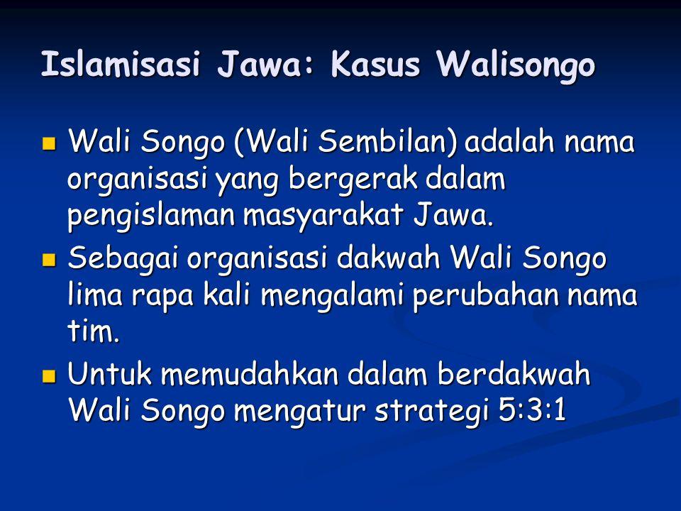 Islamisasi Jawa: Kasus Walisongo