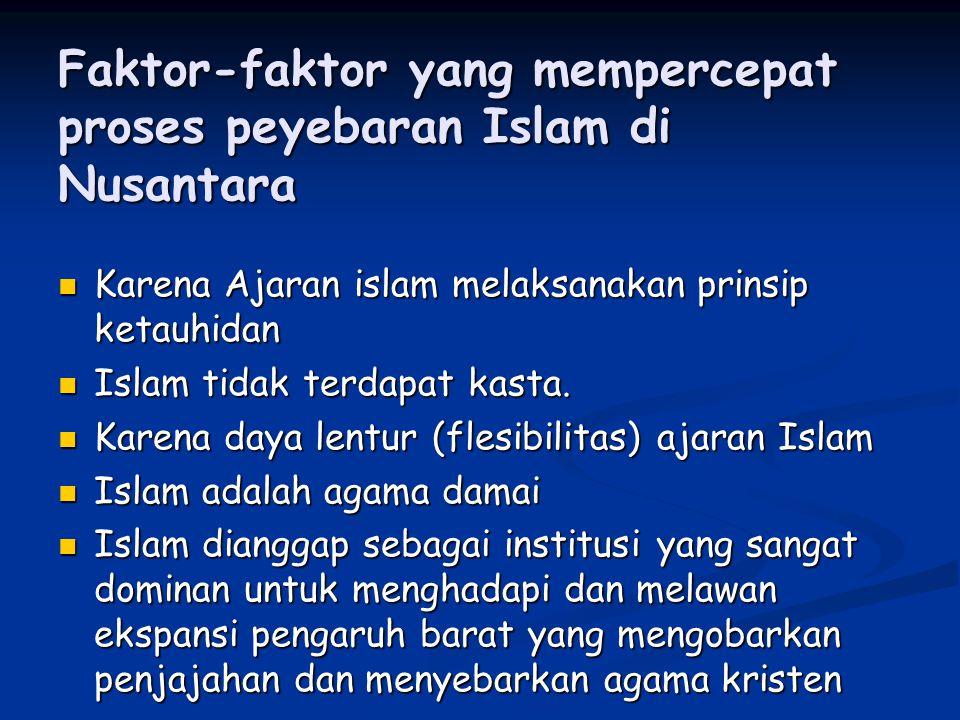 Faktor-faktor yang mempercepat proses peyebaran Islam di Nusantara