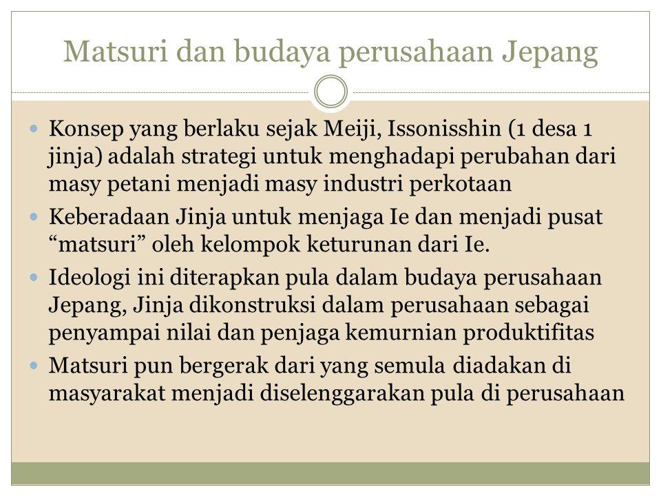 Matsuri dan budaya perusahaan Jepang