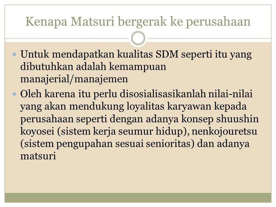 Kenapa Matsuri bergerak ke perusahaan