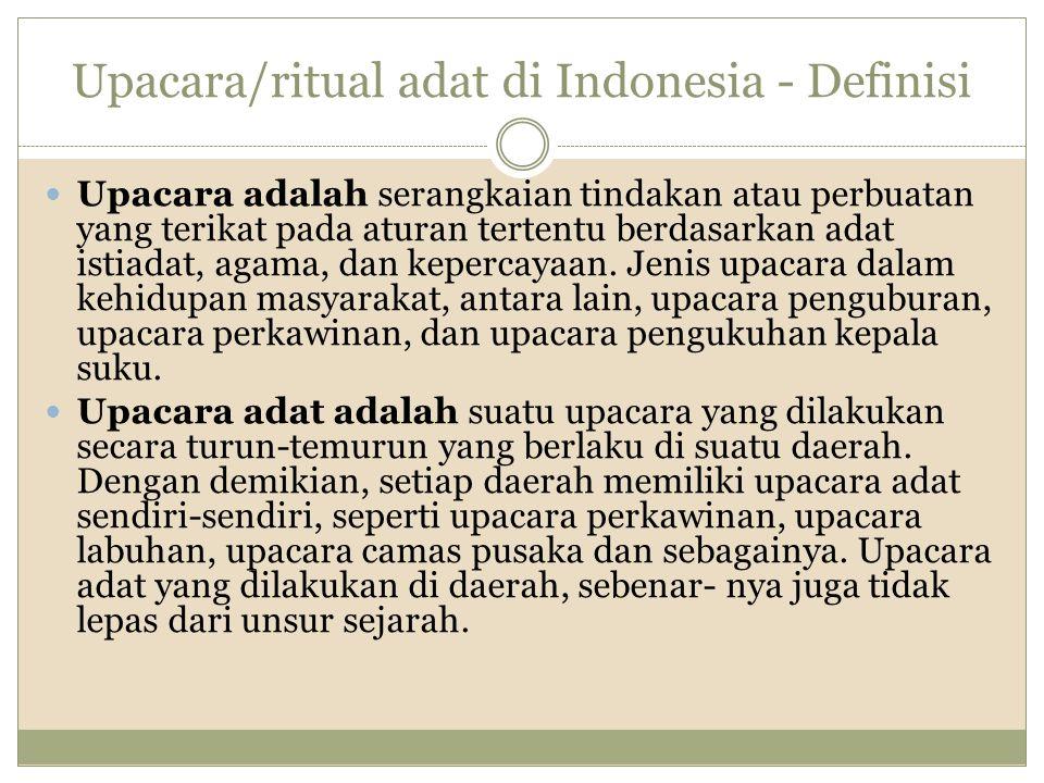 Upacara/ritual adat di Indonesia - Definisi