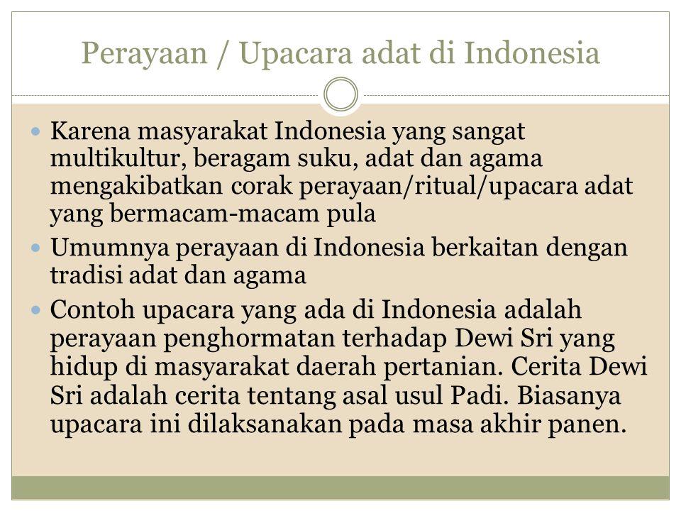 Perayaan / Upacara adat di Indonesia