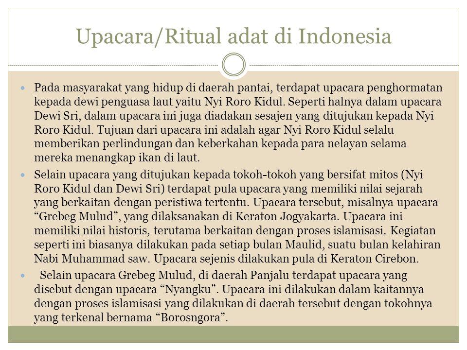 Upacara/Ritual adat di Indonesia