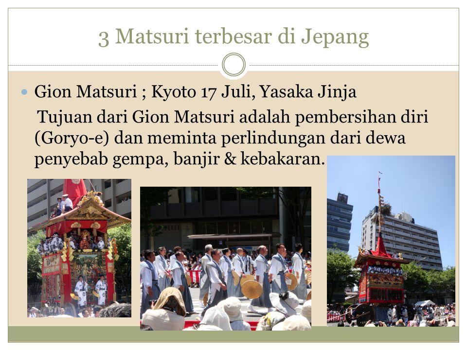 3 Matsuri terbesar di Jepang