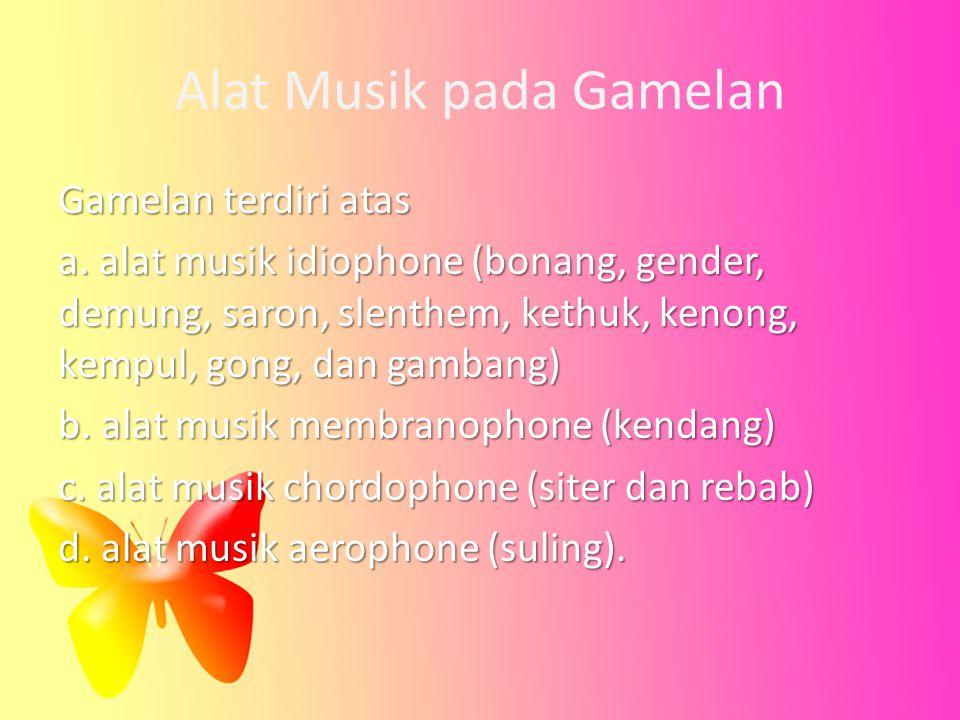 Alat Musik pada Gamelan