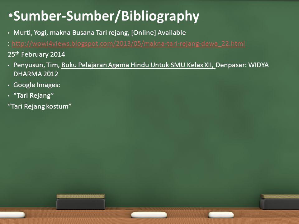 Sumber-Sumber/Bibliography