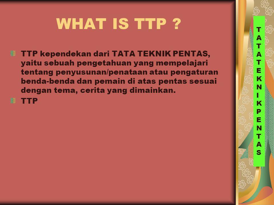 WHAT IS TTP TATA. TEKNIK. PENTAS.