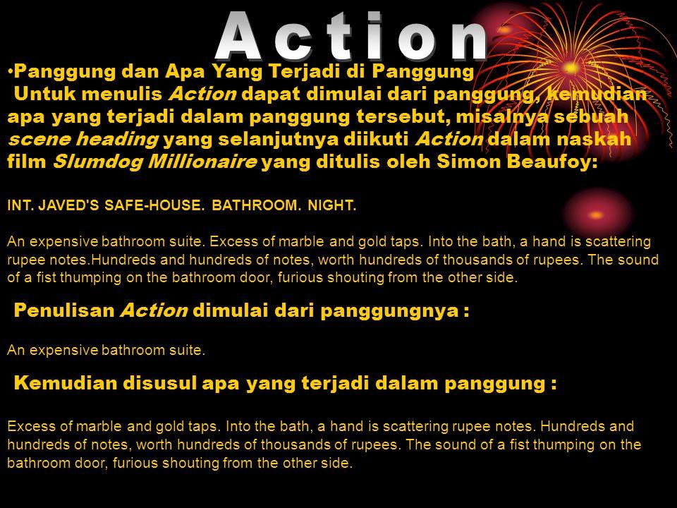 Action Panggung dan Apa Yang Terjadi di Panggung