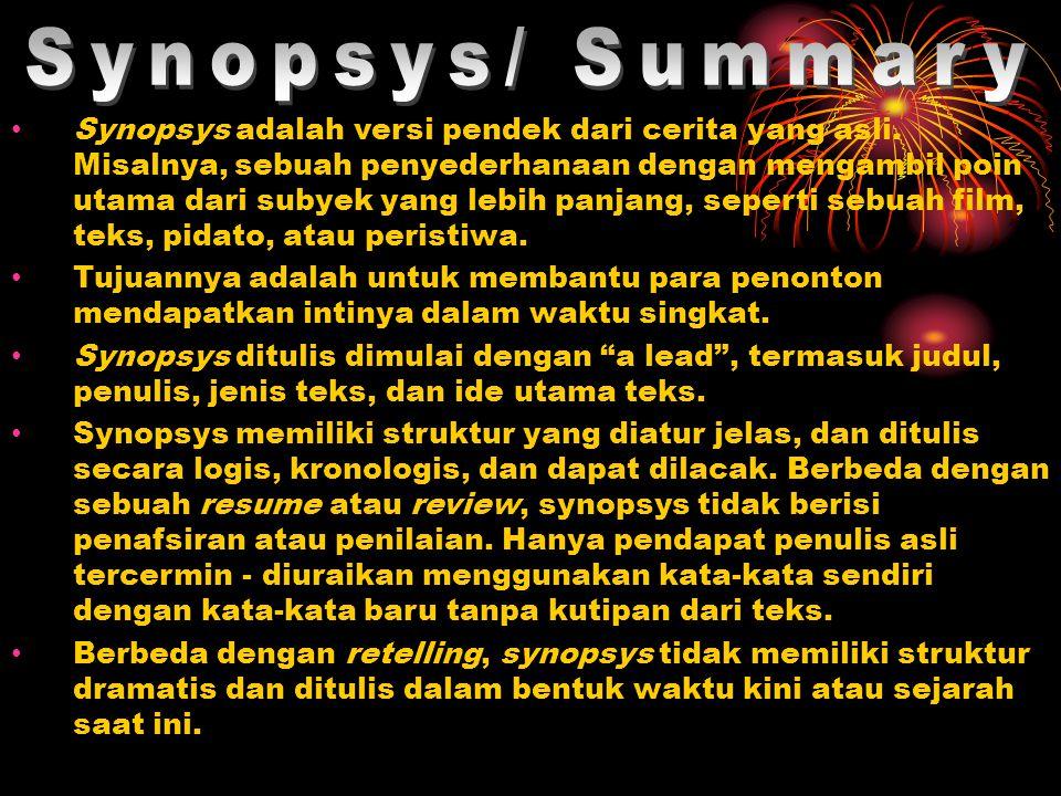 Synopsys/ Summary