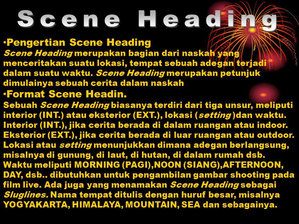 Scene Heading Pengertian Scene Heading Format Scene Headin.