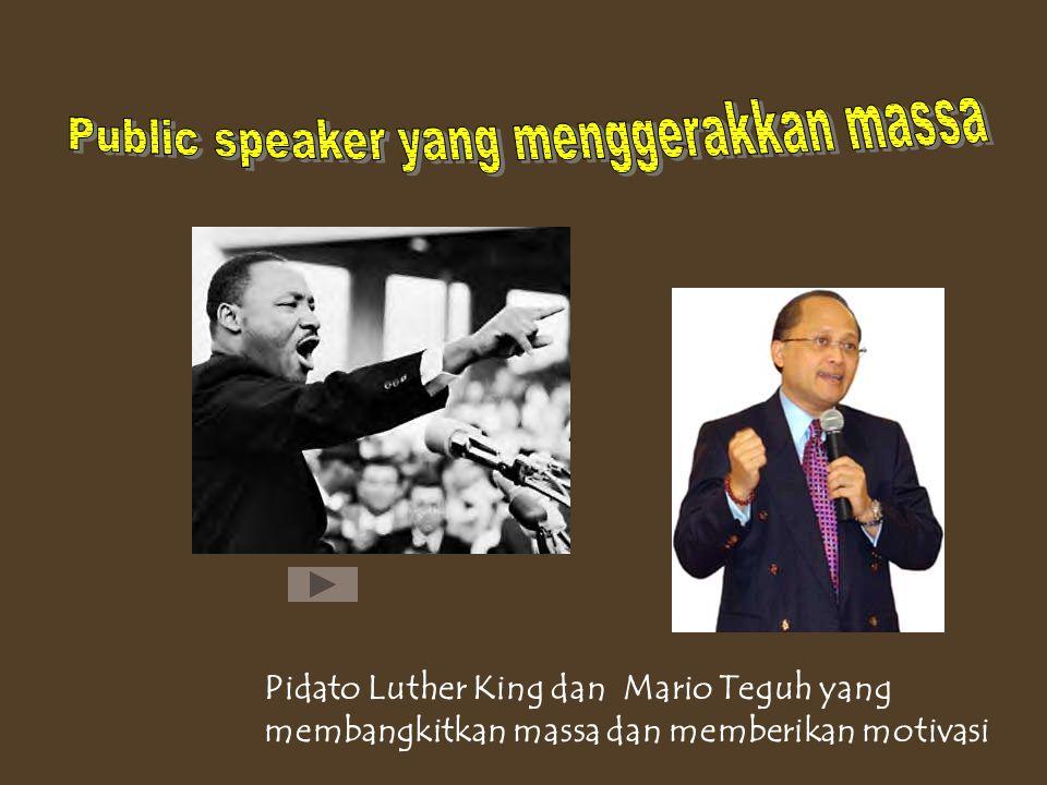 Public speaker yang menggerakkan massa