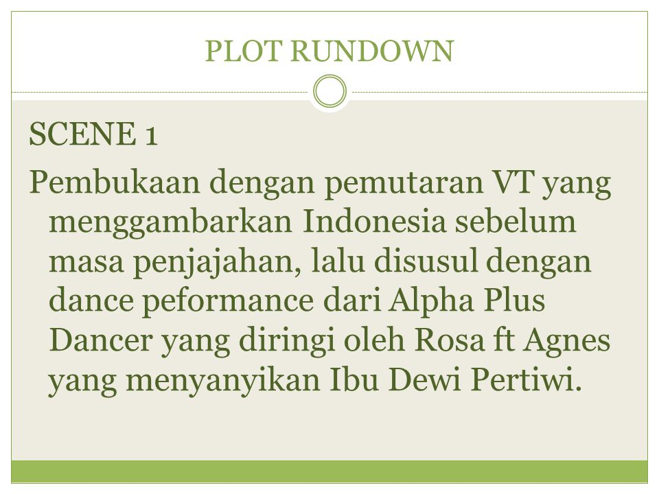 PLOT RUNDOWN