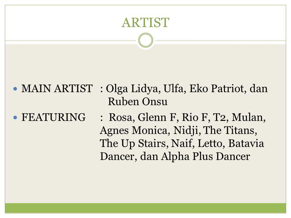 ARTIST MAIN ARTIST : Olga Lidya, Ulfa, Eko Patriot, dan Ruben Onsu
