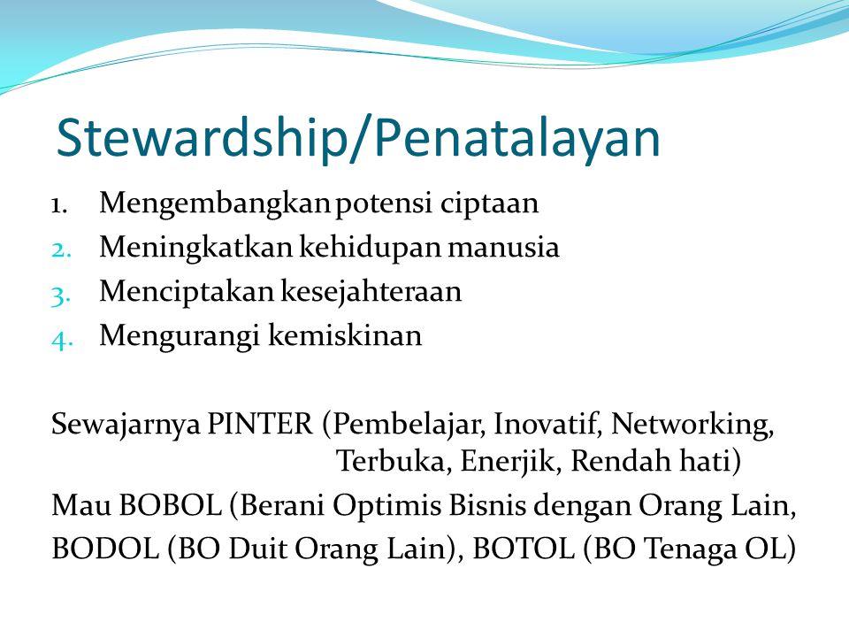 Stewardship/Penatalayan