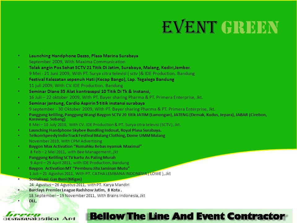 Event GREEN Launching Handphone Dezzo, Plasa Marina Surabaya
