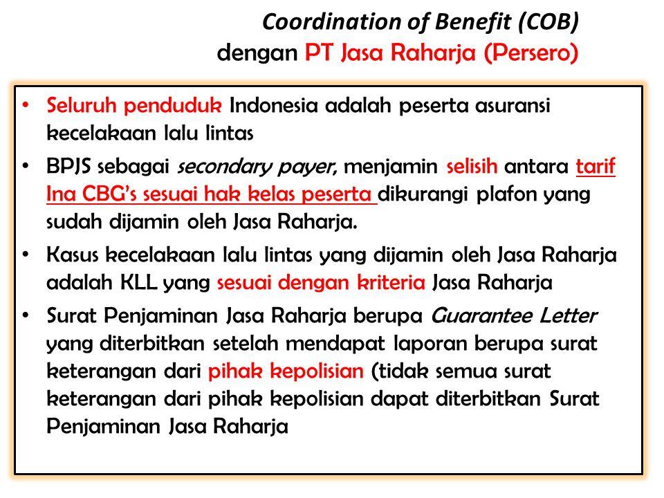 Coordination of Benefit (COB) dengan PT Jasa Raharja (Persero)