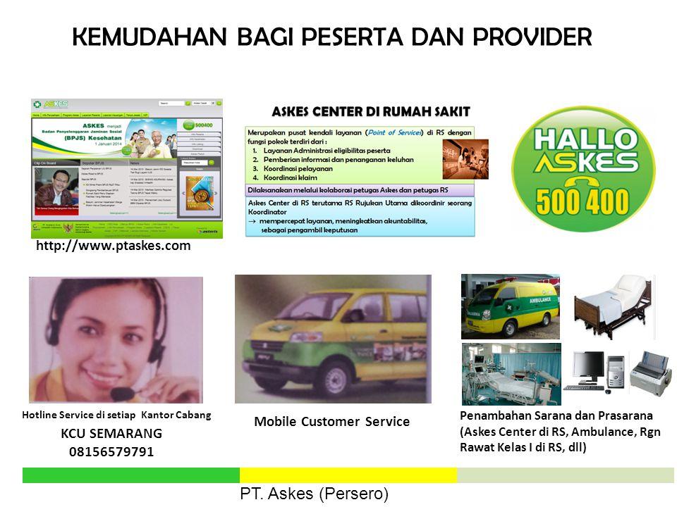 Hotline Service di setiap Kantor Cabang Mobile Customer Service