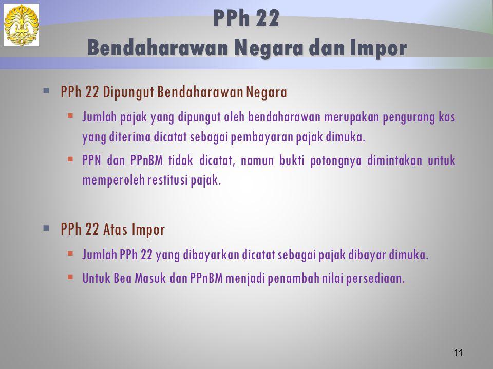PPh 22 Bendaharawan Negara dan Impor