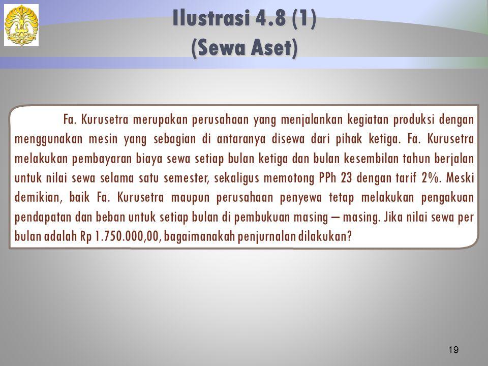 Ilustrasi 4.8 (1) (Sewa Aset)