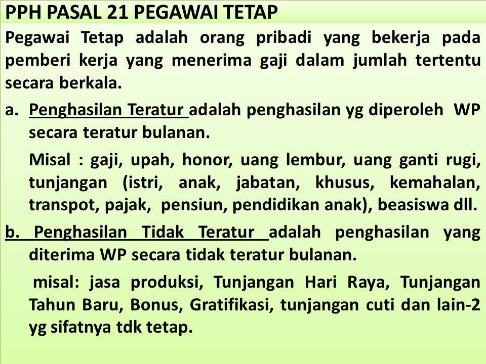 PPH PASAL 21 PEGAWAI TETAP