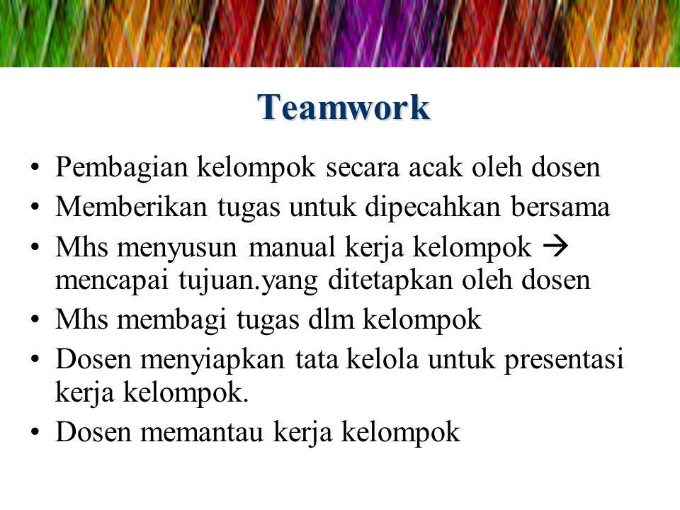 Teamwork Pembagian kelompok secara acak oleh dosen