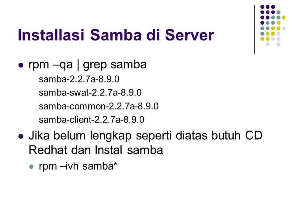 Installasi Samba di Server