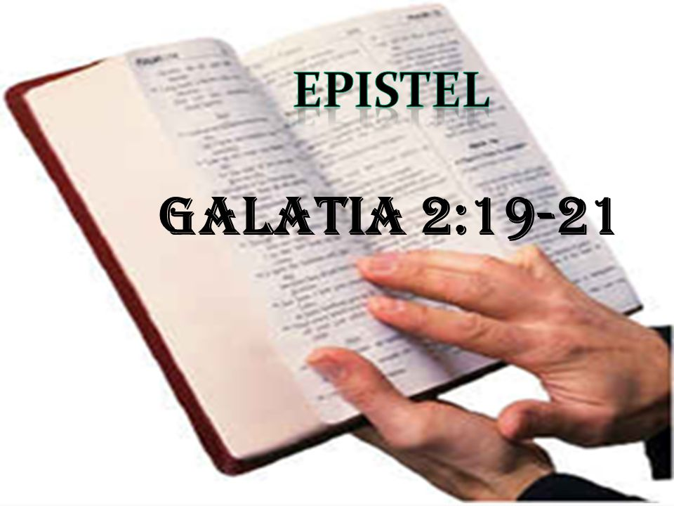 EPISTEL Galatia 2:19-21