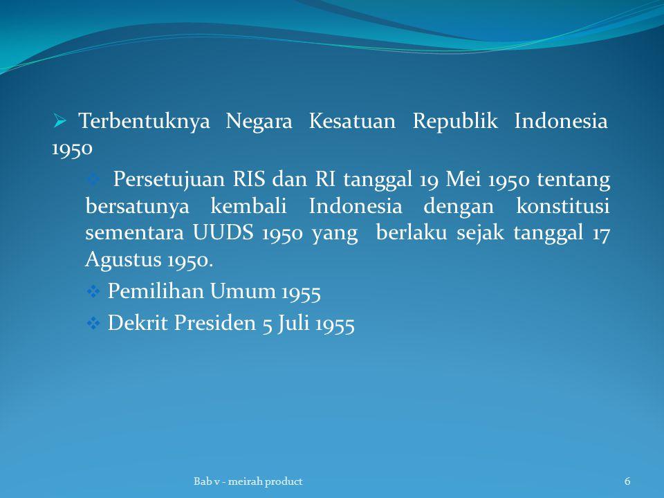 Terbentuknya Negara Kesatuan Republik Indonesia 1950