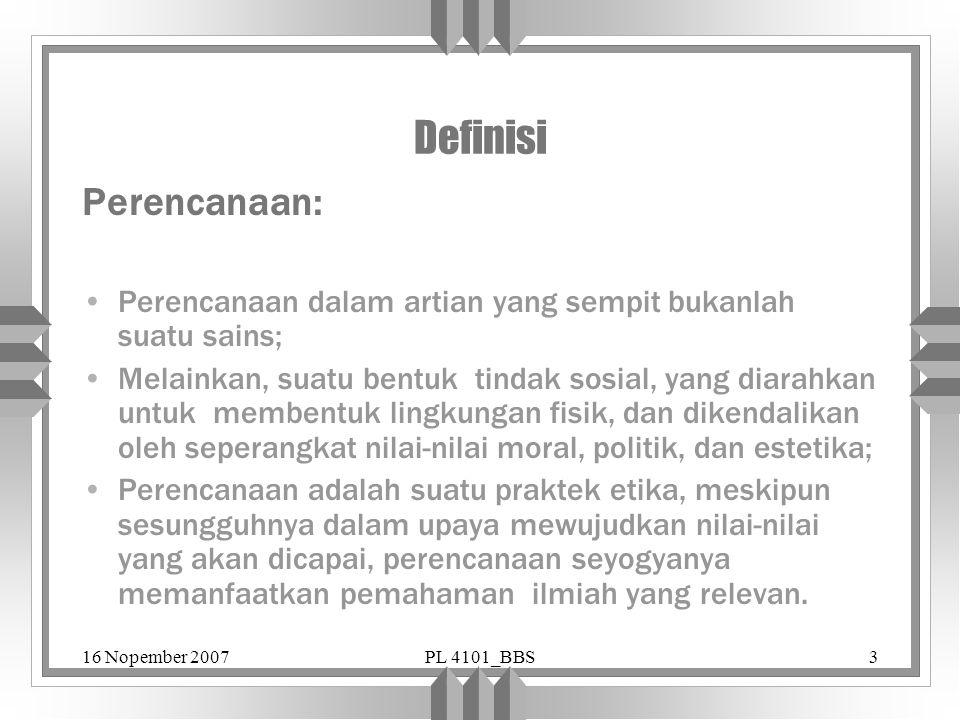 Definisi Perencanaan: