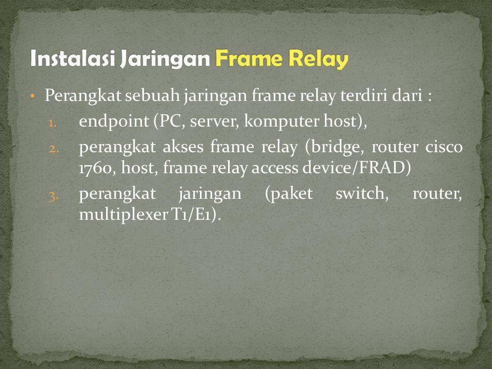 Instalasi Jaringan Frame Relay