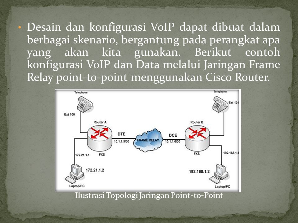 Ilustrasi Topologi Jaringan Point-to-Point