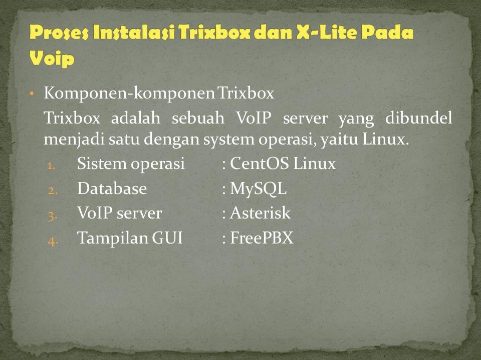 Proses Instalasi Trixbox dan X-Lite Pada Voip