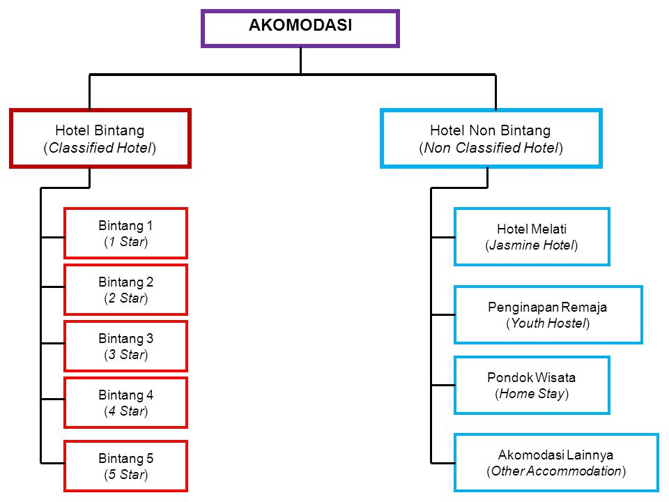 AKOMODASI Hotel Bintang (Classified Hotel) Hotel Non Bintang