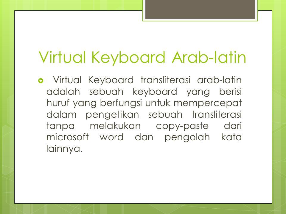 Virtual Keyboard Arab-latin