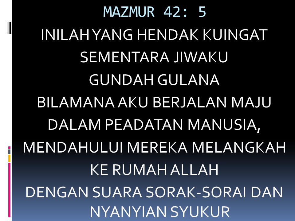 MAZMUR 42: 5