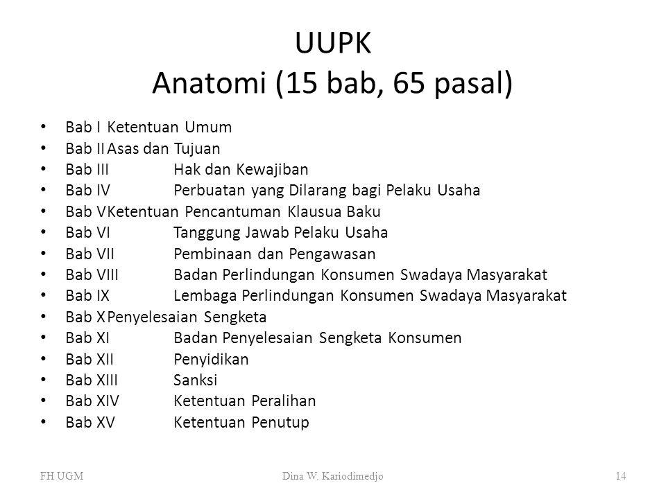 UUPK Anatomi (15 bab, 65 pasal)